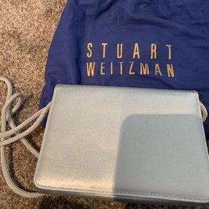 Stuart Weitzman silver evening bag
